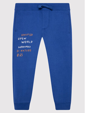United Colors Of Benetton United Colors Of Benetton Teplákové kalhoty 3EB5I0491 Modrá Regular Fit
