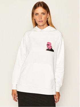 KARL LAGERFELD KARL LAGERFELD Sweatshirt Karl Legend Print Hoodie 205W1820 Blanc Oversize