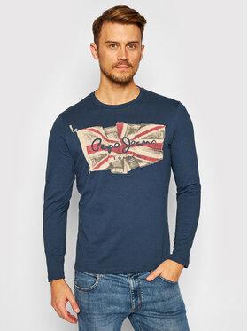 Pepe Jeans Pepe Jeans Тениска с дълъг ръкав Flag Logo PM501326 Тъмносин Regular Fit
