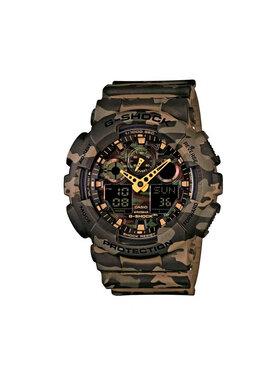G-Shock G-Shock Zegarek GA-100CM-5AER Brązowy