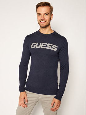 Guess Guess Maglione Logo M0BR53 Z2PL0 Blu scuro Regular Fit
