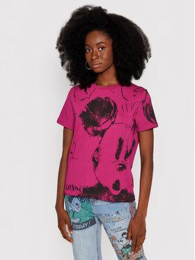 Desigual Desigual T-Shirt DISNEY Mickey 21WWTKB3 Różowy Regular Fit
