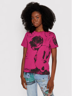 Desigual Desigual Tričko DISNEY Mickey 21WWTKB3 Ružová Regular Fit