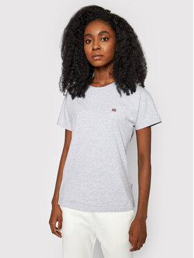 Napapijri Napapijri T-Shirt Saliss NP0A4FAC Szary Regular Fit
