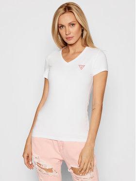 Guess Guess T-shirt Mini Triangle W1YI1A J1311 Blanc Slim Fit