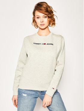 Tommy Jeans Tommy Jeans Mikina Essential Logo DW0DW07976 Šedá Regular Fit