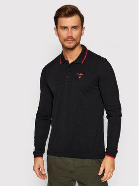 Aeronautica Militare Aeronautica Militare Тениска с яка и копчета 212PO1569P204 Черен Regular Fit