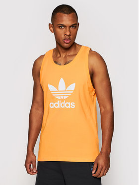 adidas adidas Tank top Trefoil GN3490 Pomarańczowy Regular Fit