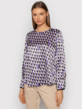 Marella Marella Chemisier Nabot 31160316 Violet Relaxed Fit