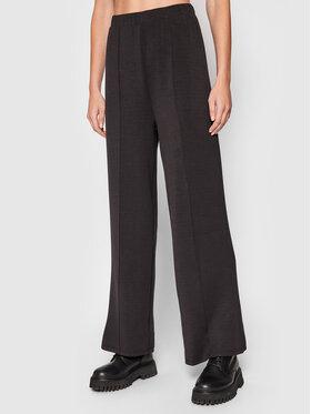Vero Moda Vero Moda Spodnie dresowe Silky 10257424 Czarny Regular Fit