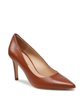 Solo Femme Solo Femme Pantofi cu toc subțire 75403-88-K78/000-04-00 Maro