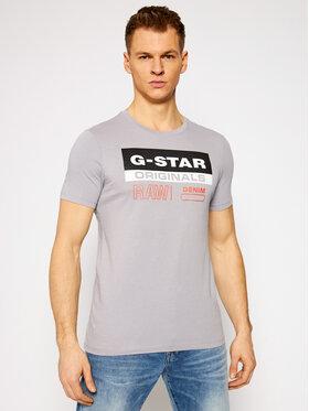 G-Star Raw G-Star Raw T-Shirt Originals Label Logo D18261-336-B959 Szary Slim Fit
