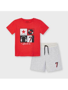 Mayoral Mayoral Komplet T-Shirt i szorty sportowe 3646 Kolorowy Regular Fit