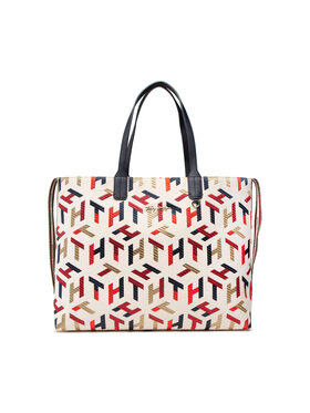 Tommy Hilfiger Tommy Hilfiger Handtasche Iconic Tommy Tote Mono Embr AW0AW10118 Beige
