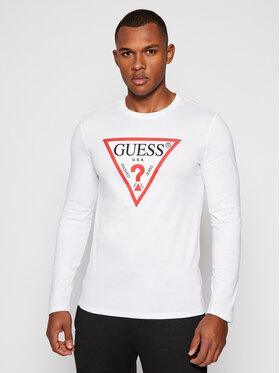 Guess Guess Marškinėliai ilgomis rankovėmis Ls Original Logo M0BI31 I3Z11 Balta Slim Fit