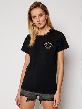 PLNY LALA PLNY LALA T-shirt Prosecco PL-KO-FF-00028 Crna French Fit