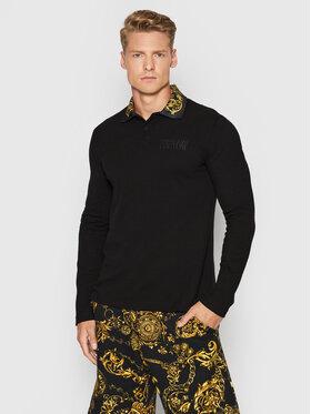 Versace Jeans Couture Versace Jeans Couture Polo Baroque 71GAGT04 Czarny Regular Fit