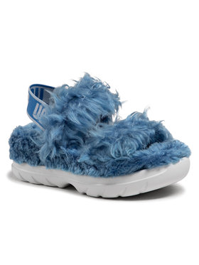Ugg Ugg Sandále W Fluff Sugar Sandal 1119999 Modrá