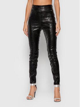 Guess Guess Spodnie z imitacji skóry Priscilla W1BB08 WE5V0 Czarny Extra Slim Fit