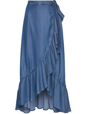 Guess Guess Jupe maxi W1GD85 D4D21 Bleu Regular Fit