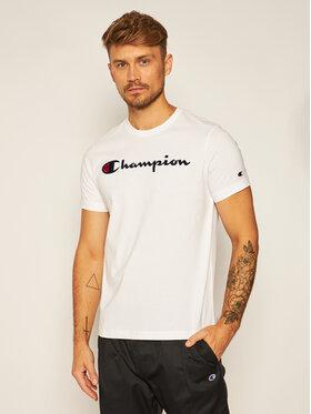 Champion Champion T-Shirt Crewneck Tee 214726 Biały Comfort Fit