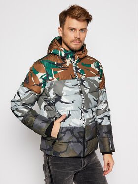 Superdry Superdry Vatovaná bunda Camo Mix Sports M5010396A Barevná Regular Fit