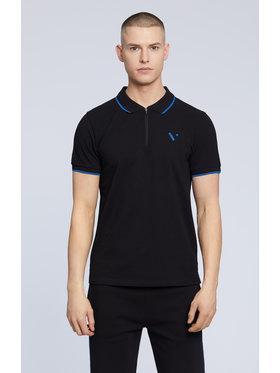 Vistula Vistula Тениска с яка и копчета Malte XA1180 Черен Regular Fit