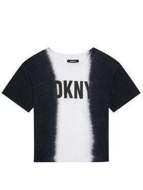 DKNY DKNY Tričko D35R31 S Čierna Regular Fit