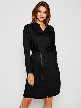 Calvin Klein Calvin Klein Φόρεμα πουκάμισο Viscose Twill Ls K20K202275 Μαύρο Regular Fit