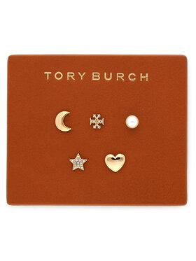 Tory Burch Tory Burch Auskarai Celestial Stud Set 78952 Auksinė