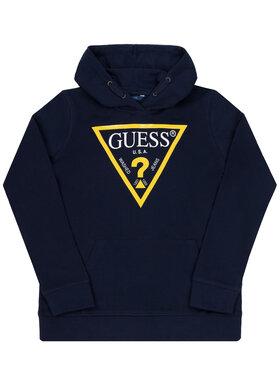 Guess Guess Μπλούζα L92Q09 K5WK0 Σκούρο μπλε Regular Fit