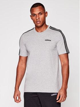 adidas adidas T-Shirt Essentials 3-Stripes DU0442 Grau Regular Fit