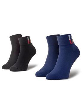 Levi's® Levi's® Комплект 2 чифта къси чорапи мъжки 37157-0455 Тъмносин