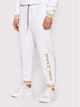 Karl Kani Karl Kani Spodnie dresowe Retro 6006738 Biały Regular Fit