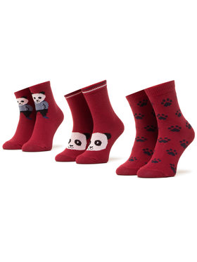 Mayoral Mayoral Set di 3 paia di calzini lunghi da bambini 10832 Bordeaux