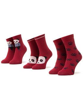 Mayoral Mayoral Súprava 3 párov vysokých detských ponožiek 10832 Bordová