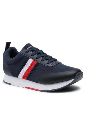 Tommy Hilfiger Tommy Hilfiger Sneakersy Retro Knit Stripes Runner FM0FM03610 Granatowy