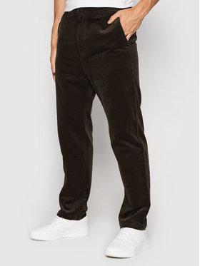 Carhartt WIP Carhartt WIP Kalhoty z materiálu Menson I028630 Hnědá Regular Fit