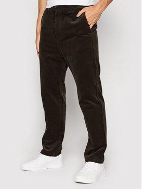 Carhartt WIP Carhartt WIP Pantaloni din material Menson I028630 Maro Regular Fit