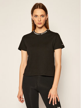 Tommy Jeans Tommy Jeans T-Shirt Branded Tee DW0DW08537 Schwarz Cropped Fit