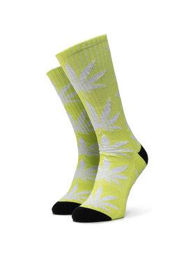 HUF HUF Vysoké dámske ponožky Plantlife Metallic Leaves Sock SK00447 r.OS Zelená