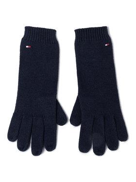 TOMMY HILFIGER TOMMY HILFIGER Moteriškos Pirštinės Flag Knit Gloves AW0AW07197 Tamsiai mėlyna