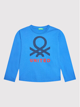 United Colors Of Benetton United Colors Of Benetton Blusa 3VTEC15B7 Blu scuro Regular Fit