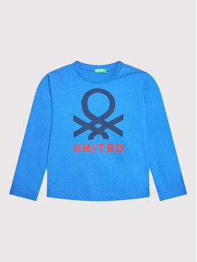 United Colors Of Benetton United Colors Of Benetton Blúz 3VTEC15B7 Sötétkék Regular Fit