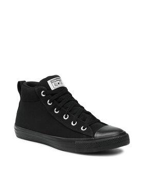 Converse Converse Sneakers aus Stoff Ctas Street Mid 168725C Schwarz