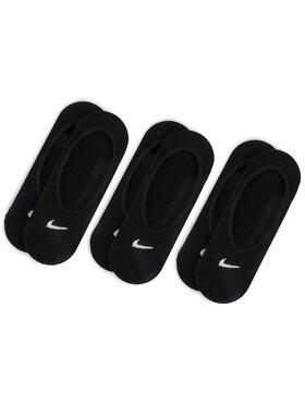 Nike Nike Set od 3 para ženskih niskih čarapa SX4863 010 Crna