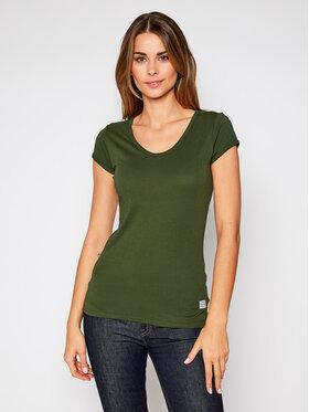 G-Star Raw G-Star Raw T-Shirt Core Eyben D17239-4107-4748 Zielony Slim Fit