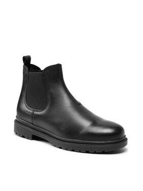Geox Geox Členková obuv s elastickým prvkom U Andalo A U16DDA-00045 C9999 Čierna
