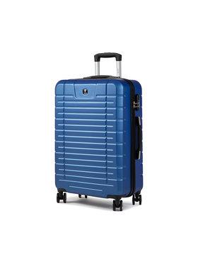 Dielle Dielle Közepes keményfedelű bőrönd D91 Sötétkék