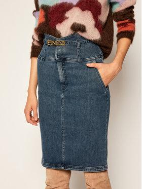 Pinko Pinko Jeans suknja Ariella AL 20-21 PDEN 1J10J0 Y62Q Tamnoplava Slim Fit